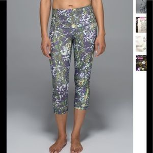 Lululemon highrise wunder under crop